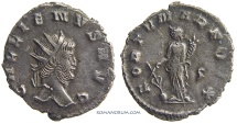 Ancient Coins - GALLIENUS. (AD 253-268) Antoninianus, 2.64g.  Siscia. Great portrait