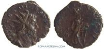 Ancient Coins - TETRICUS. (AD 270-73) Antoninianus, 2.24g.  Trier or Mainz LAETITIA AVG Great portrait.