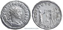 Ancient Coins - PROBUS. (AD 276-282) Antoninianus, 4.09g.  Antioch. Pretty much as struck.