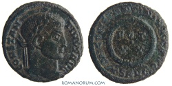 Ancient Coins - CONSTANTINE I, The Great. (AD 306-337) AE 3, 2.73g.  Thessalonica. Specs of silvering.