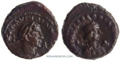 Ancient Coins - VABALATHUS and AURELIAN. (AD 270-275 ) Tetradrachm. , 8.74g.  Alexandria. Nice portraits.