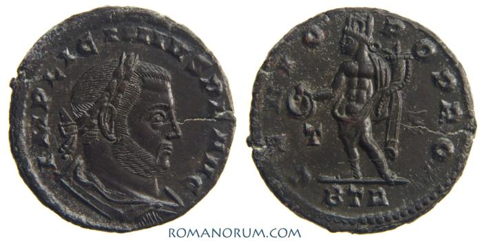 Ancient Coins - LICINIUS. (AD 308-324) AE follis, 3.90g.  Trier. Truly fantastic strike. Hunky Genius, well groomed Licinius.
