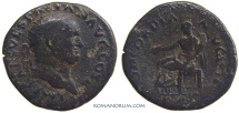 Ancient Coins - VESPASIAN. (AD 69-79) Dupondius, 12.38g.  Rome. Concordia