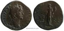Ancient Coins - ANTONINUS PIUS. (AD 138-161 ) Sestertius, 26.98g.  Rome.