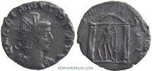 Ancient Coins - GALLIENUS. (AD 253-268) Antoninianus, 3.69g.  Lugdunum. Mars in temple.