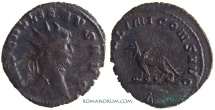 Ancient Coins - GALLIENUS. (AD 253-268) Antoninianus, 2.64g.  Rome. APOLLINI CONS.  Mean looking Gryphon