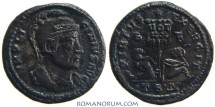 Ancient Coins - LICINIUS. (AD 308-324) Follis, 3.31g.  Thessalonica. VIRTVS EXERCIT. Unlisted officina.