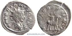 "Ancient Coins - VALERIAN II. (AD 256-58) Antoninianus, 2.47g.  Cologne. ""Growing Jupiter"""