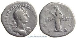 Ancient Coins - HADRIAN. (AD 117-138) Denarius, 3.10g.  Rome. Pietas. Scarce