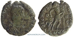 Ancient Coins - GRATIAN. (AD 375 -383) AE3, 3.10g.  Lugdunum. GLORIA ROMANORVM