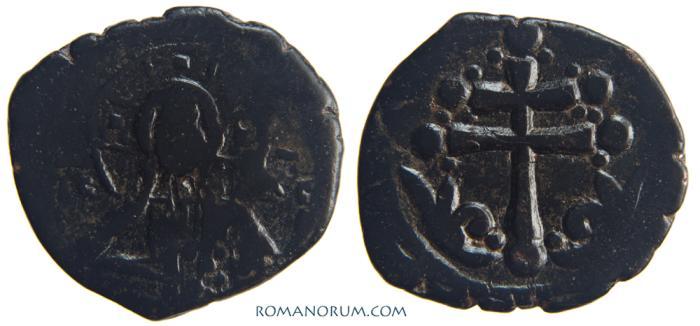Ancient Coins - MICHAEL VII DUCAS . (AD 1071-78) Anonymous Follis, Class H., 6.49g.   Scarce. Magnificent Patriarchal cross.