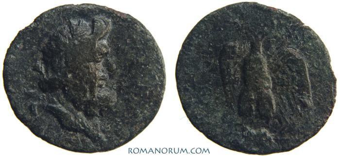 Ancient Coins - Autonomous Coin. Tomis, Moesia Inferior.. (c. 1st. cent. BC) AE19, 2.30g.  Moesia Inferior, Tomis. Rare. High relief Zeus.