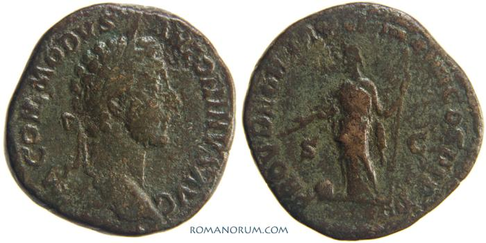 Ancient Coins - COMMODUS. (AD 180-192 ) Sestertius, 21.89g.  Rome. PROV DEOR