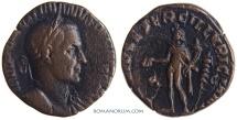 Ancient Coins - TRAJAN DECIUS. (AD 249-251) Sestertius, 11.32g.  Rome. GENIVS EXERC ILLVRICIANI