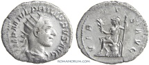 Ancient Coins - PHILIP I, The Arab. (AD 244-249) Antoninianus, 3.00g.  Rome. Virtvs. Scarce
