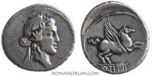 Ancient Coins - Q. TITIUS. (90 BC) Denarius, 3.73g.  Rome. Great Pegasus