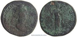 Ancient Coins - FAUSTINA SENIOR. (AD 138-141) Sestertius, 24.80g.  Rome. Scarcer lifetime issue.