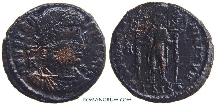 Ancient Coins - VETRANIO. (AD 350) Centenionalis, 4.67g.  Siscia. Deplorable condition