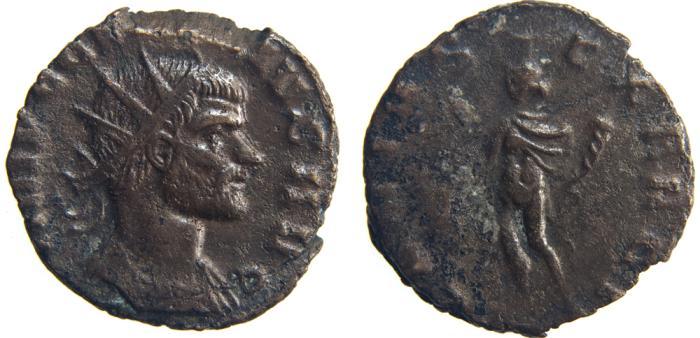 Ancient Coins - CLAUDIUS II, Gothicus. (AD 268-270) Antoninianus, 2.84g.  Rome. GENIVS EXERCI