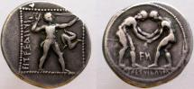 Ancient Coins - PAMPHYLIA, Aspendos. Circa 380/75-330/25 BC. AR Stater. The only Aspendos issue with obverse legend