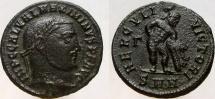 Ancient Coins - MAXIMINUS II. 309-313 AD. Æ Follis. Ex. Agora Auction 25. Estimated at $150