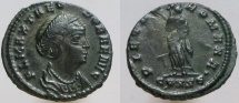 Ancient Coins - THEODORA, 2cd wife of Constantius I. PIETAS ROMANA • Constantinople mint.