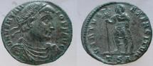 Ancient Coins - VETRANIO. 350 AD. Æ-23mm. mis-spelled VERTANIO. VERY RARE mint error.