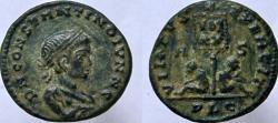 Ancient Coins - CONSTANTINE II, as Caesar. 317-337 AD. Æ Follis. Name spelled CONSTANTINO. Scarce.