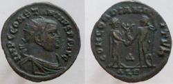 Ancient Coins - CONSTANTIUS I. 305-306 AD. Æ  Radiate Fraction, CONCORDIA MILITVM.