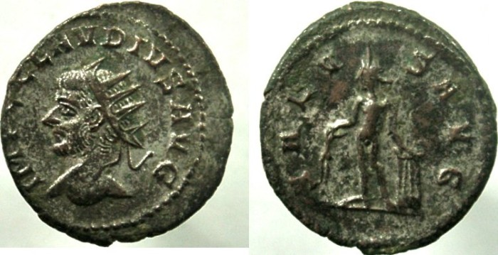 Ancient Coins - CLAUDIUS GOTHICUS. AD 268-270. Antoninianus, RARE, NOT LISTED IN RIC with bust left.