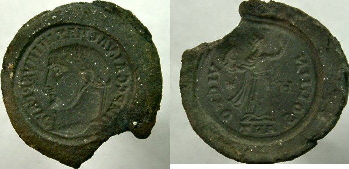 Ancient Coins - FORGERS DIE TO MAKE COINS OF MAXIMINUS II.