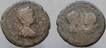 Ancient Coins - Caracalla, with Septimius Severus. AR Denarius. Ex. Hollscheck XI, pedigree to early 1960's.