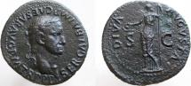 Ancient Coins - GALBA. 68-69 AD. Æ As (28mm, 10.48g). Nice strong portrait.