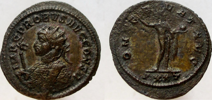 Ancient Coins - PROBUS. 276-282 AD. Antoninianus. IMP C PROBVS AVG CONS II, Rare dated issue.