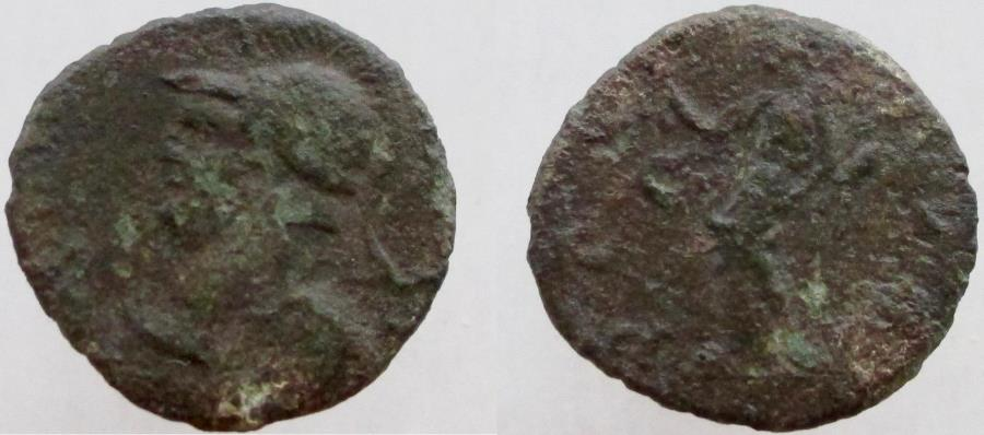 Ancient Coins - Carausius. 286-293 AD. (Unlisted in RIC?). Rare with military bust.