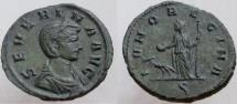 Ancient Coins - Severina. Augusta, 270-275 AD. Æ As ? / Sestertius ?. Juno holding patera and scepter.