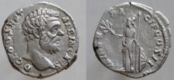Ancient Coins - Clodius Albinus. As Caesar, AD 193-195. AR Denarius, Artistic portrait.