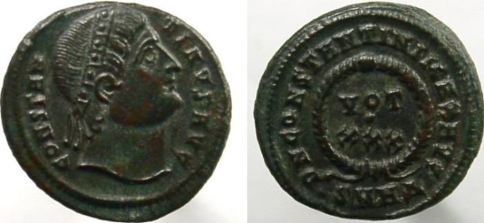 Ancient Coins - CONSTANTINE I (the GREAT), EYES to Heaven, VOT XXX.