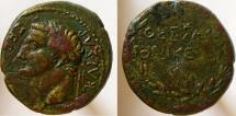 Ancient Coins - Tiberius. 14-37 AD. Æ-22. EXTREMELY RARE!   Only THREE known. Last one sold for $1900.