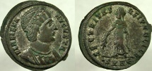 Ancient Coins - HELENA, Augusta, 324-328/30 AD. Æ Follis, SECVRITAS REIPVBLICE.
