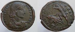 Ancient Coins - Constantius II. 337-361 AD. Æ-2. FEL TEMP RE-PARTIO, Helmeted soldier spearing horseman.