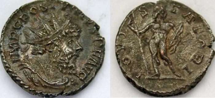 Ancient Coins - POSTUMUS. 260-269 AD. AR Antoninianus, IOVI STATORI.