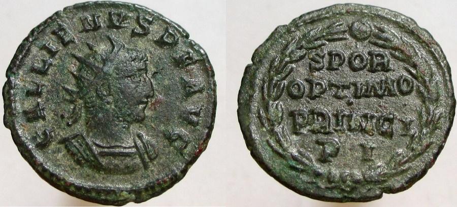 Ancient Coins - Gallienus. 253-268 AD. AR Antoninianus. Rare and interesting type.