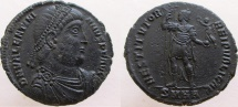 Ancient Coins - VALENTINIAN I.  Æ-1, RARE, listed as R-4 in RIC. ALL NEW INVENTORY coming in August.