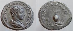 Ancient Coins - SEVERUS ALEXANDER, 222-235 AD. AR Denarius,  RARE as Caesar.