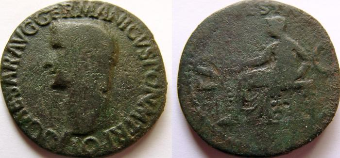 Ancient Coins - CALIGULA. 37-41 AD. Æ As.