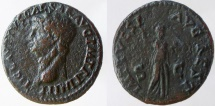 Ancient Coins - Claudius. 41-54 AD. Æ As. Restitution issue. Struck under Titus. RARE.