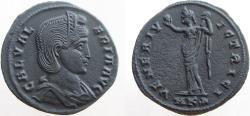 Ancient Coins - Galeria Valeria. Augusta, 293(?)-311 AD. Æ Follis. Mint of Cyzicus. VERY NICE portrait.