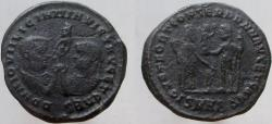Ancient Coins - Licinius I, with Licinius II, Caesar. 308-324 AD. Æ Follis. VERY RARE - rated (R5).