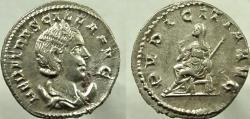 Ancient Coins - HERENNIA ETRUSCILLA, 249-251 AD. AR Antoninianus, PVDICITIA AVG.
